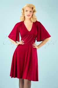 TopVintage Boutique Collection High Density Viscose Dress in Red 102 20 22456 20171004 1W
