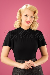 50s Elena Top in Black