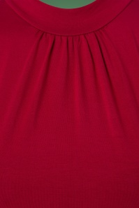 Topvintage Boutique Collection Viscose Waterfall Top in Red 113 20 22460 20170929 0004a