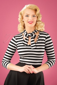 Vintage Chic Big Stripe Glitter Bow Top 113 14 22499 20170920 1W