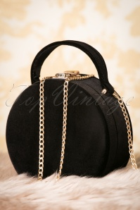 20s Oracle Small Velvet Bag in Black