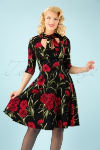 Vintage Chic Floral Swing Dress 102 14 22501 20170925 1W