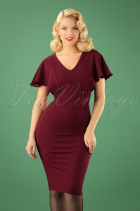 Vintage Chic Wine Red Pencil Dress 100 20 22592 20170920 010W
