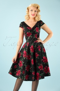 50s Croissette Dress in Black