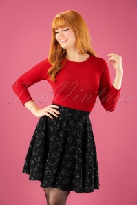 60s Matou Mini Skirt in Black
