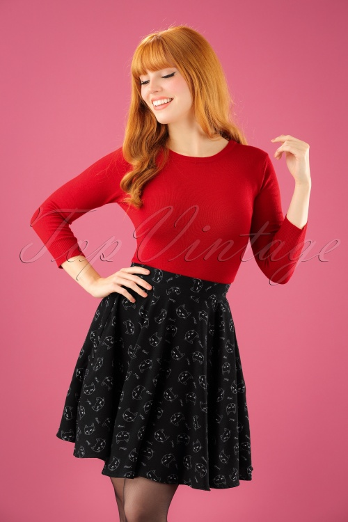 Bunny Matou Mini Skirt in Black 122 14 22619 20170928 1W