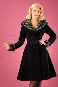 Bunny Feline Coat in Black 152 10 22632 20170918 013W