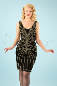 GatsbyLady Francesca Dress in Gold 100 14 22647 20170925 02W