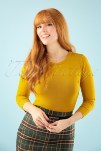 50s Debbie Sweater in Honey Yellow