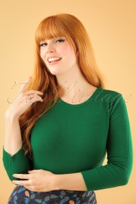 50s Debbie Sweater in Emerald Green