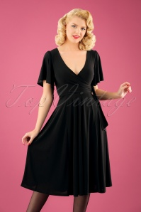 TopVintage Boutique Collection High Density Viscose Dress in Black 102 10 22455 20171004 2W