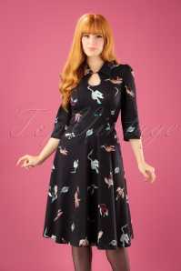 Hearts   Roses Black Birds Swing Dress 102 14 22726 20171010 1W