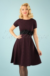Vintage Chic Fit and Flare Leopard Print Dress 102 27 22761 20170925 0009W