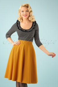 50s Beverly High Waist Swing Skirt in Mustard