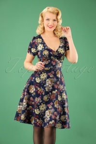 Dolly and Dotty Blue Floral Swing Dress 102 39 22962 20170926 1W