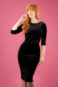 Vintage Chic Rainbow Glittered Black Velvet Dress 100 10 23381 20171017 1W