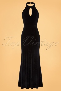 Dolly and Dotty Black Maxi Velvet Dress 108 10 22982 20170926 0002w
