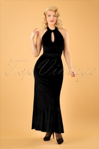 Dolly and Dotty Black Maxi Velvet Dress 108 10 22982 20170926 1W