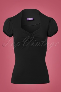 50s Donna Top in Black