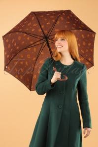 So Rainy Floral Brown Umbrella 270 79 23395 28102013 004W