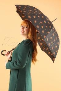 So Rainy Floral Black Umbrella 270 14 23396 28102013 001W