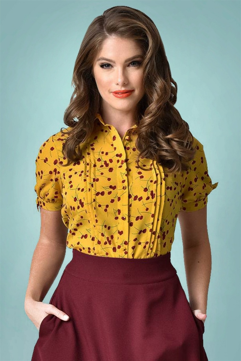 50s Colvin Blouse in Yellow