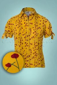 Unique Vintage Calvin Flower Blouse  112 89 23173 20171102 0002W1