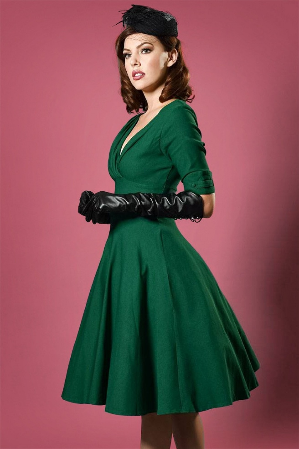 The 50 Best Fashion Tips Of All Time: 50s Delores Swing Dress In Emerald Green