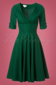 Unique Vintage Dolores Green Swing Dress 102 40 23167 20171102 0009W