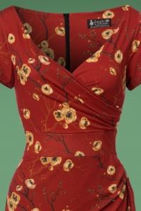 Lady Vintage Elsie Orange Pencil Dress 100 27 23945 20171102 0010W1