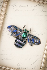 Foxy 20s Ocean Bug Hair Clip and Brooch in Silver