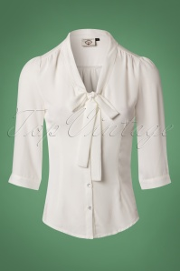 Dancing Days by Banned White Bow Blouse 112 50 23989 20171106 0002W