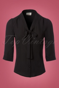 Dancing Days by Banned Black Bow Blouse 112 10 23988 20171106 0003W