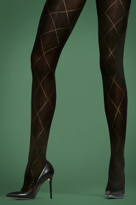 50s Coco Tights in Black