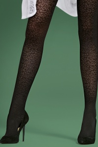 Fiorella Julia 40 Den Leopard Print Stockings 171 14 23760 01c