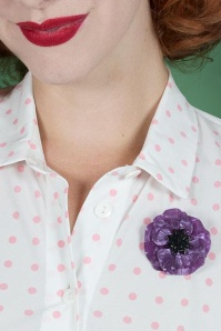 Esrtwilder 60s Poppy Brooche in Purple 340 60 23921 03