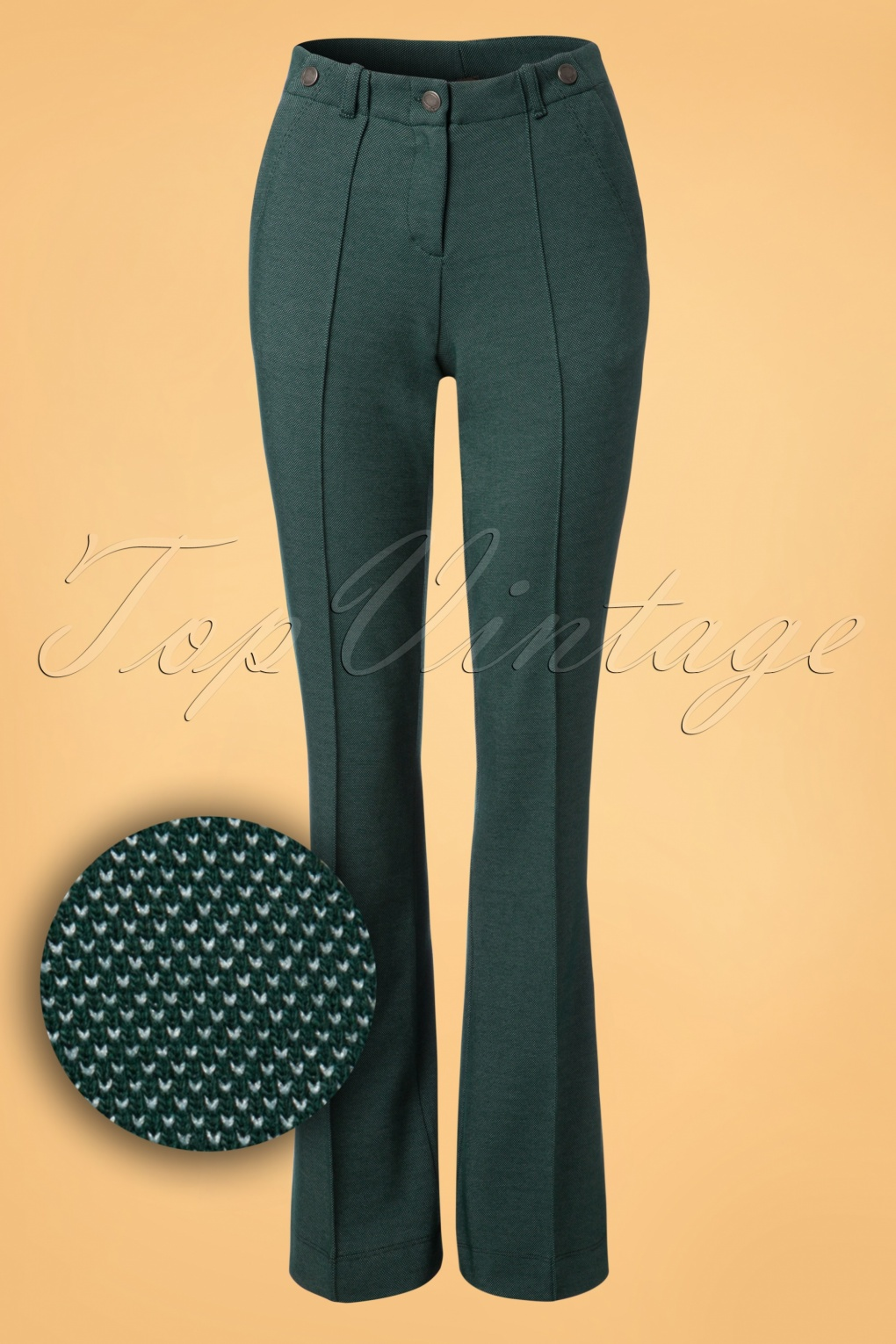 Vintage High Waisted Trousers, Sailor Pants, Jeans 60s Bongo Trousers in Green £80.87 AT vintagedancer.com