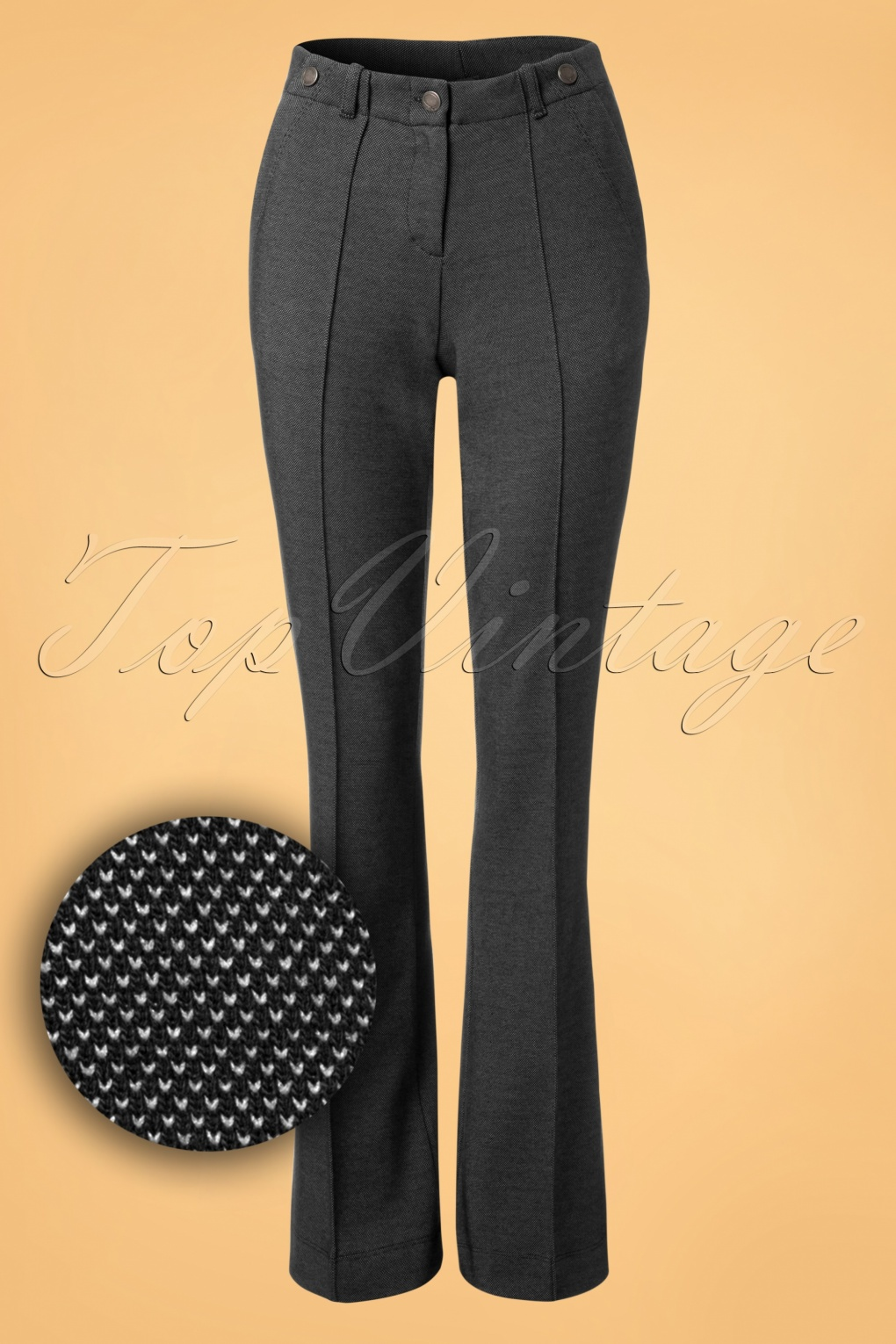 Vintage High Waisted Trousers, Sailor Pants, Jeans 60s Bongo Trousers in Black £80.87 AT vintagedancer.com