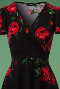 Vintage Chic Crepe Roses Dress 102 14 22748 20171107 0003V