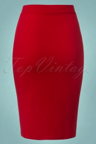 Vintage Chic Flap Button Red Pencil Skirt 120 20 22747 20171107 0006W