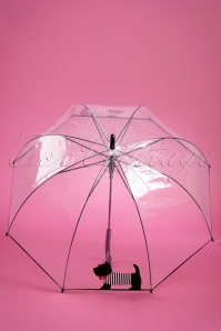 50s Scottie Dog Transparent Dome Umbrella
