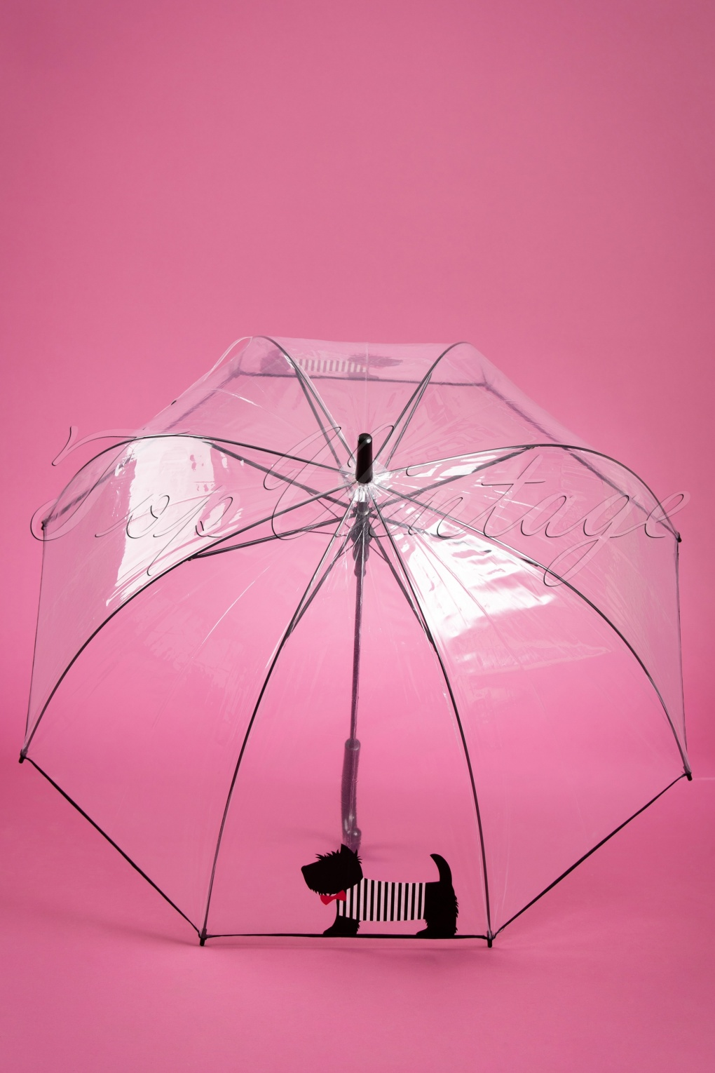 Vintage Style Parasols and Umbrellas 50s Scottie Dog Transparent Dome Umbrella £15.72 AT vintagedancer.com