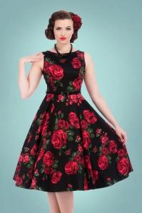 Lady V Hepburn Swing Dress Roses 102 14 15996 20150811 025