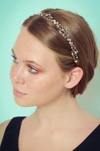 Foxy 20s Tamara Crystal Leaves Hairband in Gold