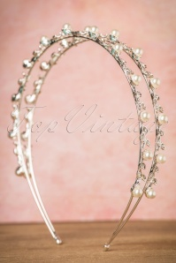 Rosie Fox Silver Pearl Hairband 208 92 23769 01112017 006W