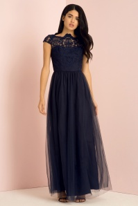 50s Bealey Maxi Dress in Navy