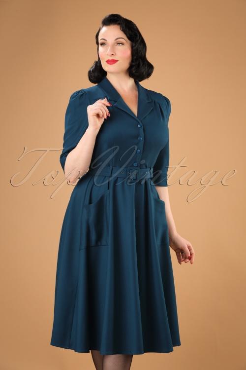 c4c818e8159470 Collectif Clothing Alexandria Plain Flared Swing Dress 21872 20170612 0030W