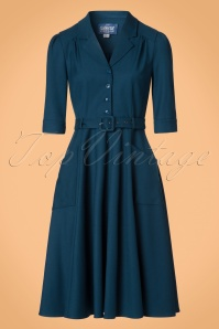 Collectif Clothing Alexandria Plain Flared Swing Dress 21872 20170612 0023W