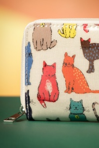 Kaytie Cream Cat Print Wallet 218 57 23663 20171027 0022