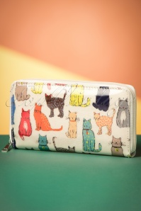 Kaytie Cream Cat Print Wallet 218 57 23663 20171027 0013w